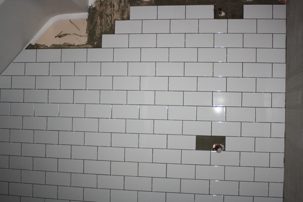 Bathroom, new house, tiles, DIY