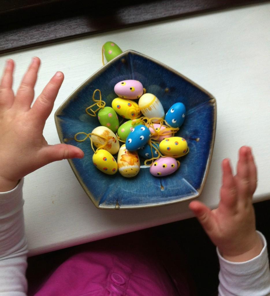 Easter, niece, hands, toddler