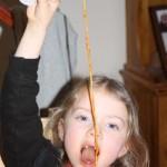 Saturday is spaghetti caption day!