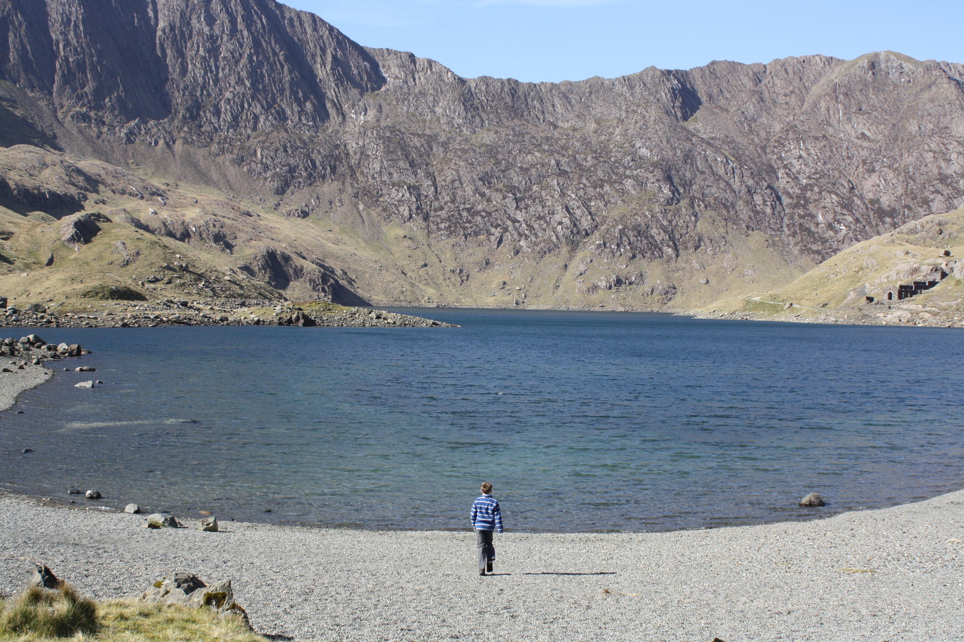 Snowdon, lake, landscape, mountain, son