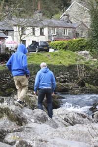 Rocks, river, son, husband, Snowdonia