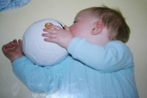 Baby, Football, SatCap, Son