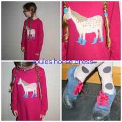 What she wore: Joules horse dress