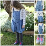 What she wore: nautical pinafore