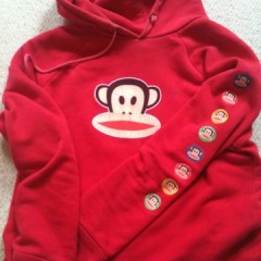 Big red monkey jumper