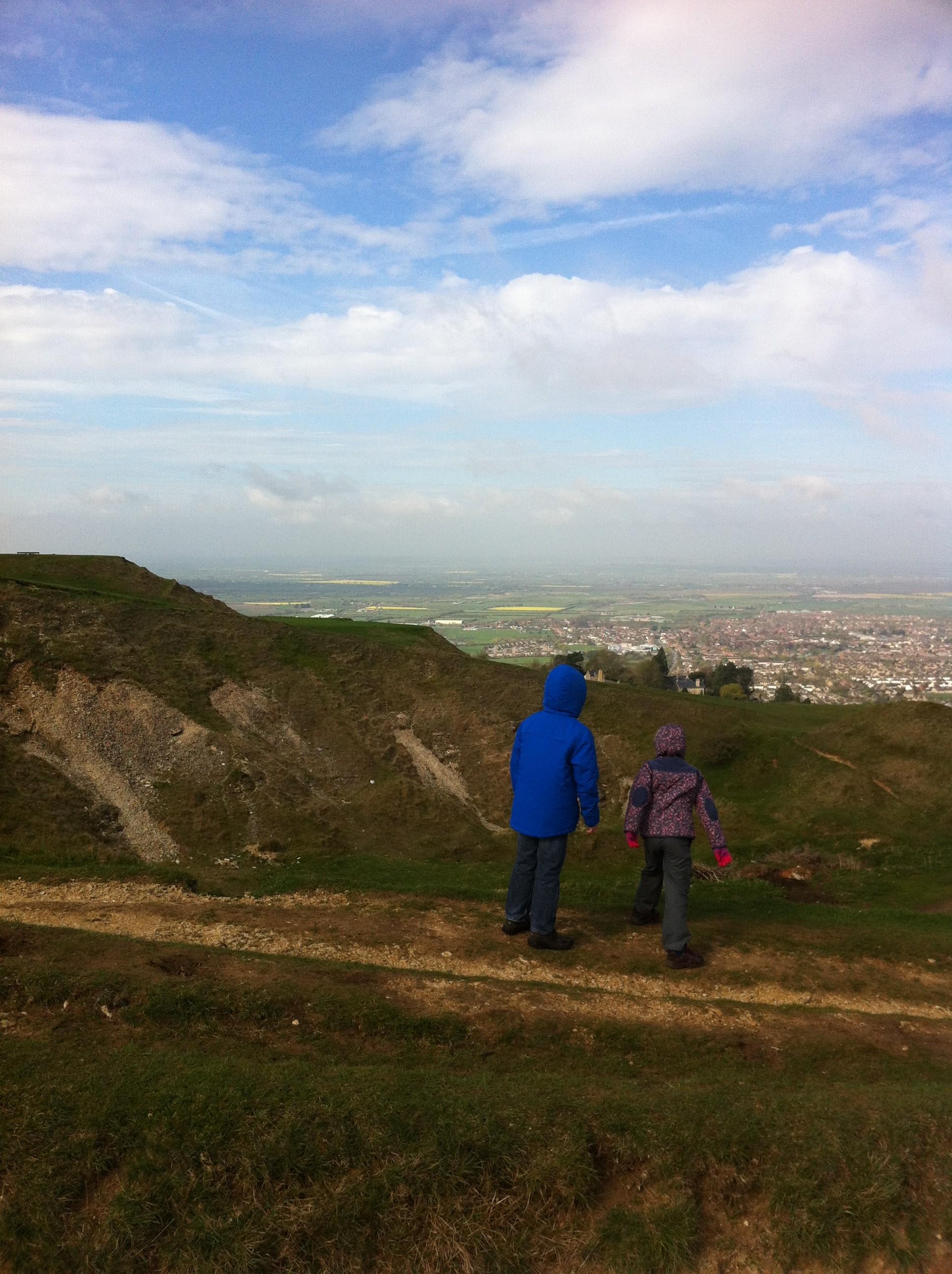 Landscape, son, daughter, walking, hills, 365