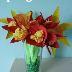 A simple spring flowers craft for children