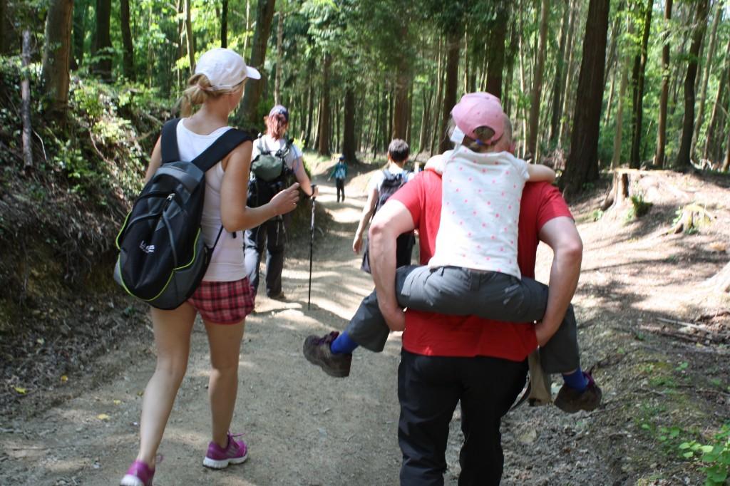 Daughter, Cotswold Way, Emmas Army, piggyback