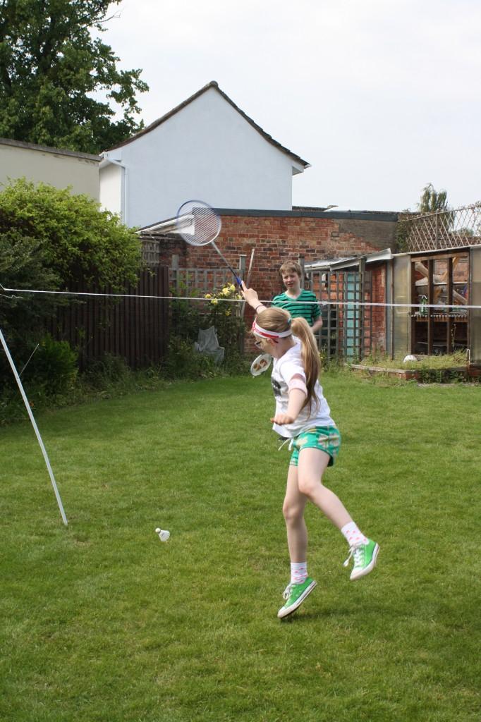 Badminton, kids, garden, 365