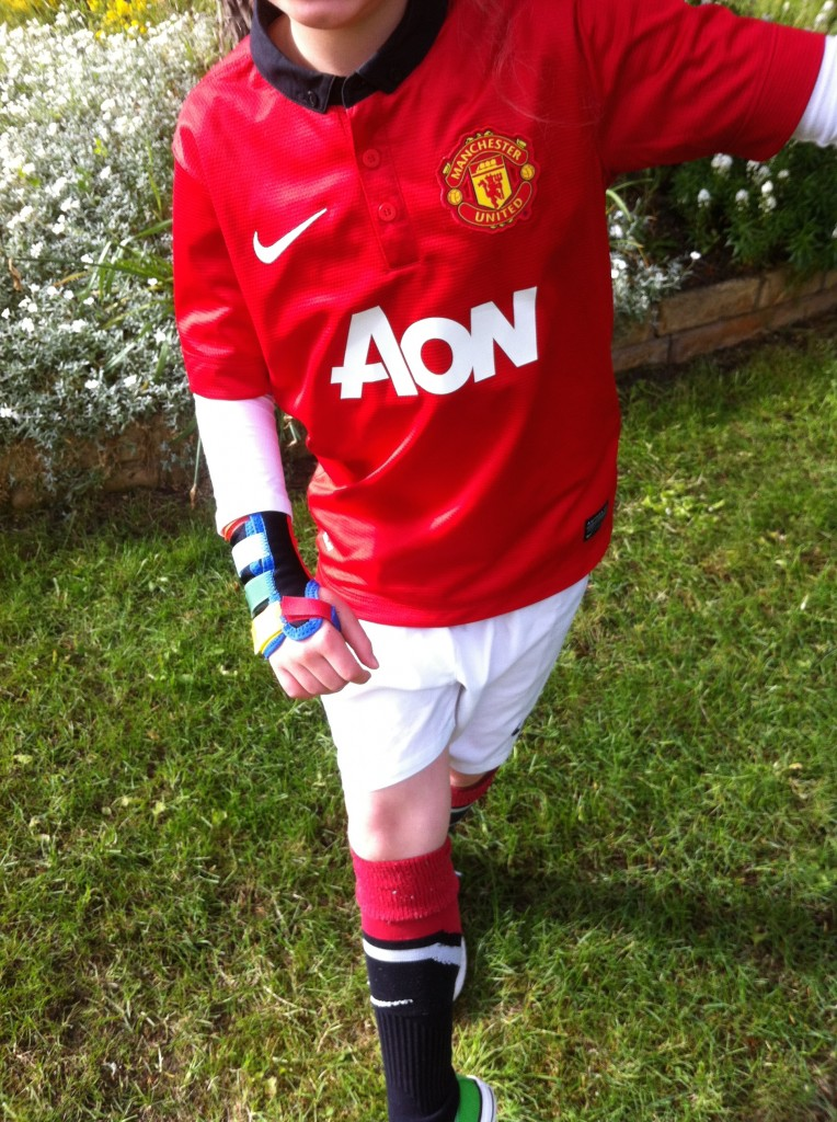 Daughter, football kit, Man Utd, 365