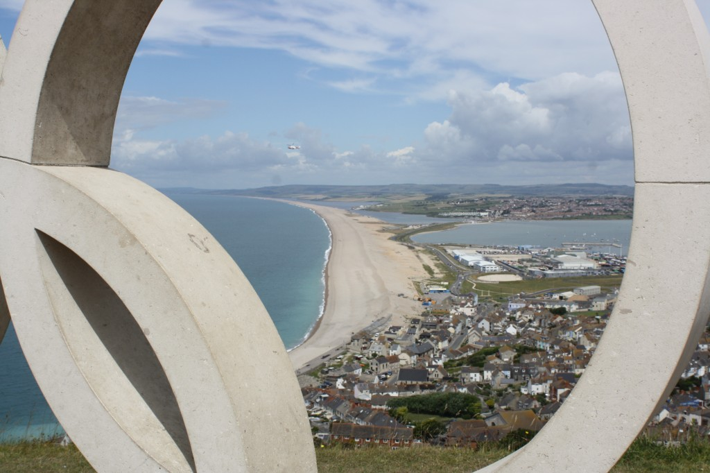 Chesil Beach, Olympics, view, sea, landscape, 365
