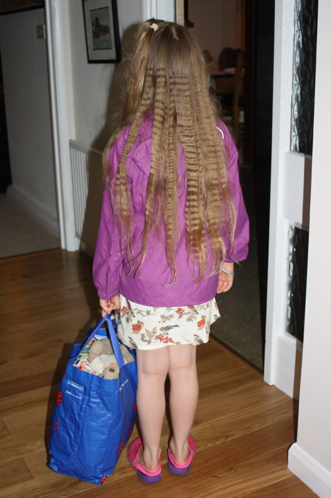Daughter, sleepover, rain, 365
