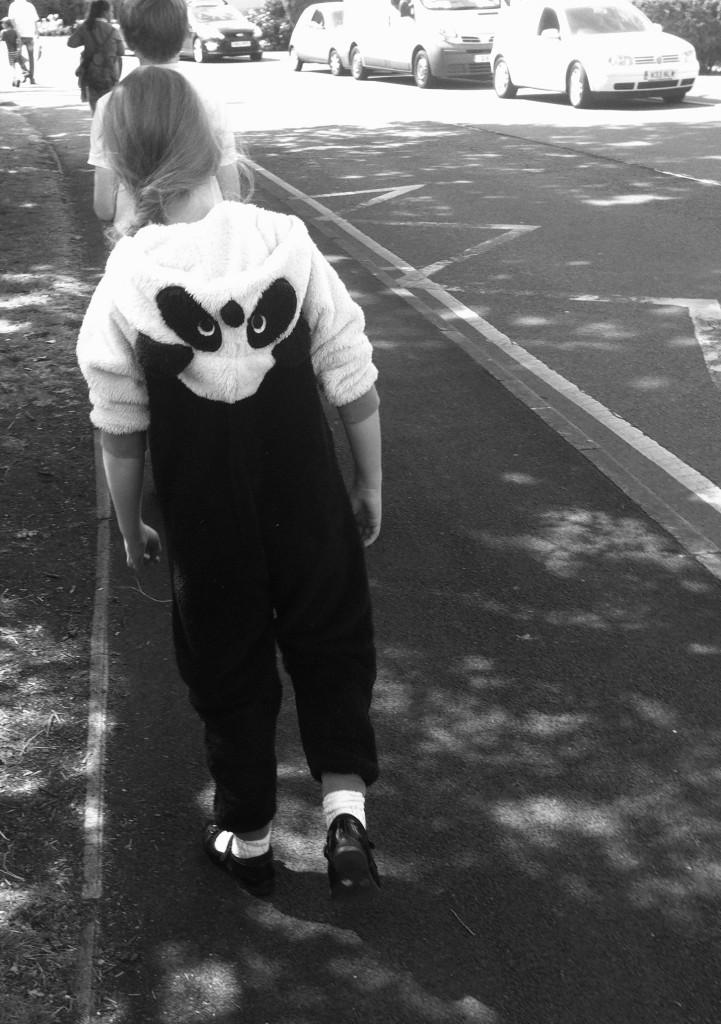 Panda, onesie, daughter, school, 365, summer