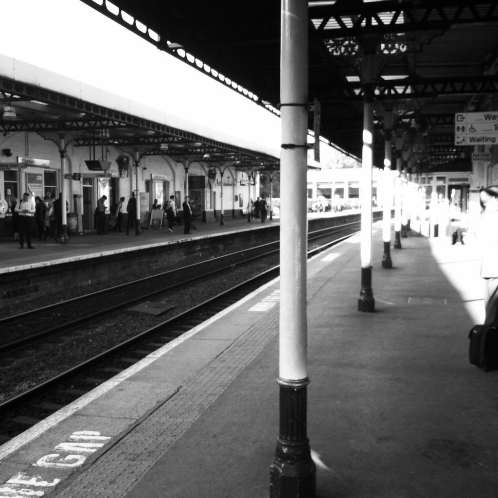 Railway station, work, black & white, 365