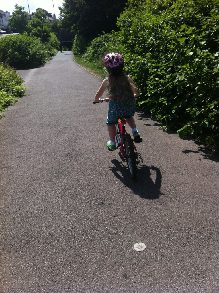 Daughter, cycling, summer, 365