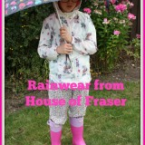 What she wore: Rain style from House of Fraser