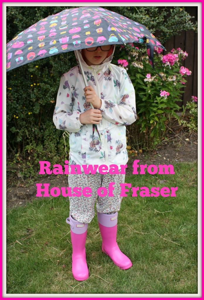 House of Fraser, rainwear, daughter, fashion, girls