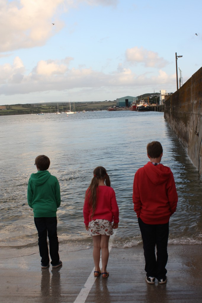 Kids, sea, Padstow, 365