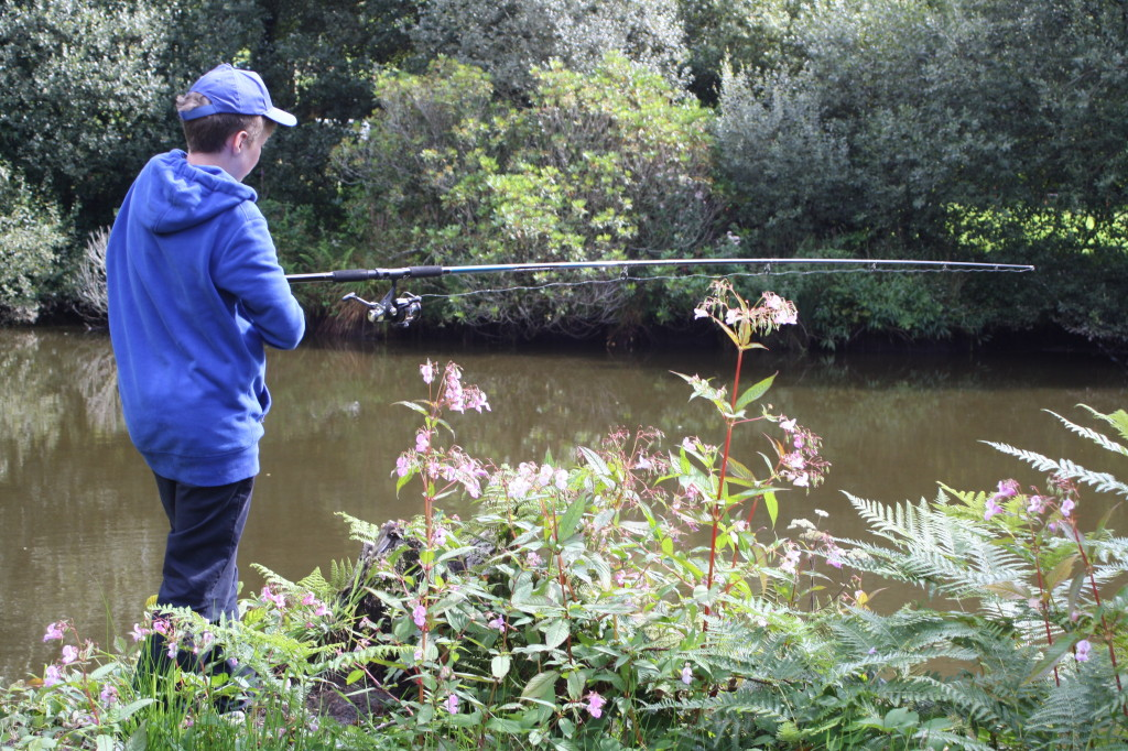 Coombe Mill, fishing, son, 365