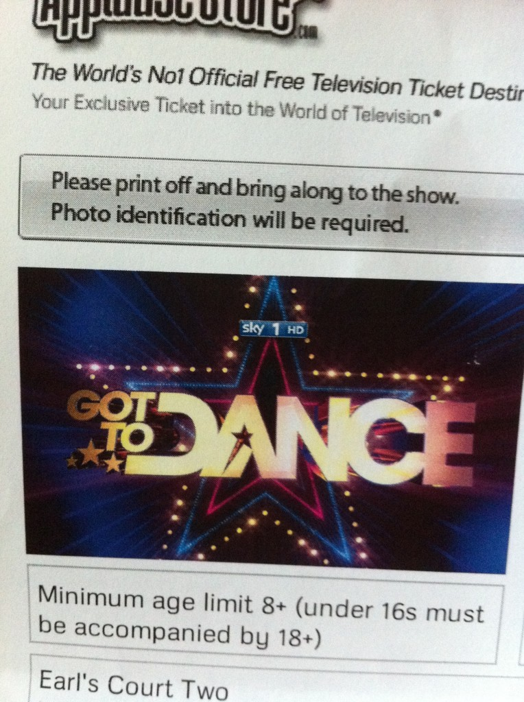 Got to Dance, Ticket, 365