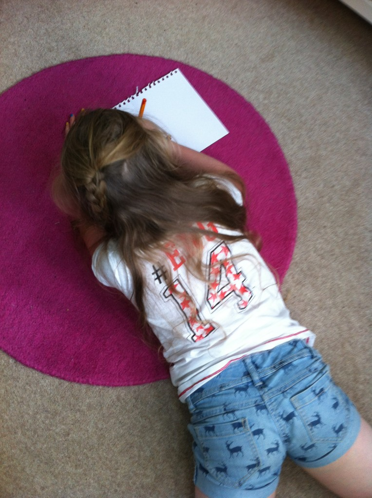 Daughter, drawing, school holidays, 365