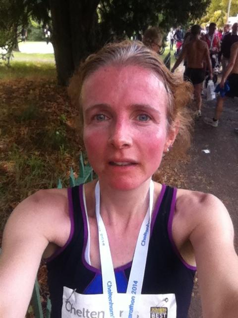 half marathon selfie