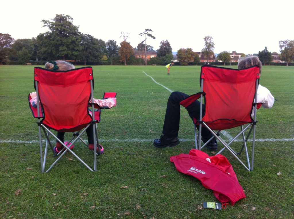 Chairs, football, brother, sister, 365