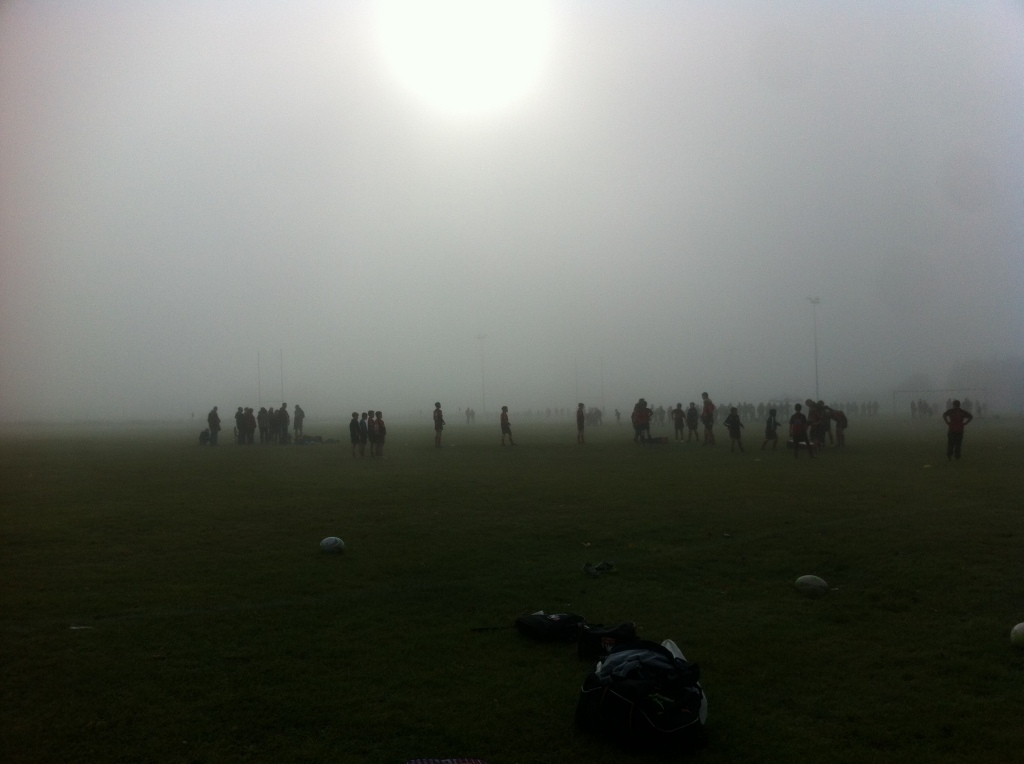 Silent Sunday, My Sunday Photo, misty morning, rugby