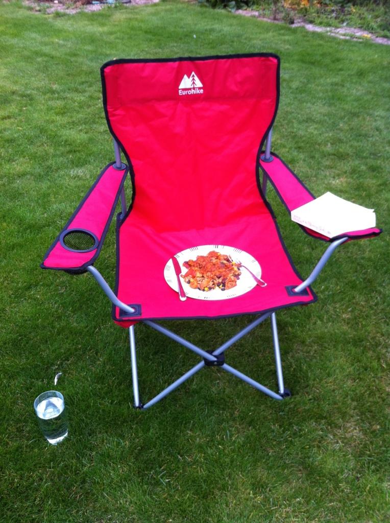 Lunch, chair, autumn