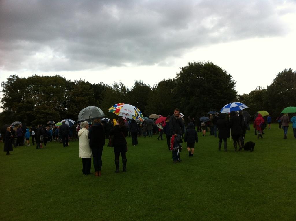 Cross country, rain, umbrellas, 365