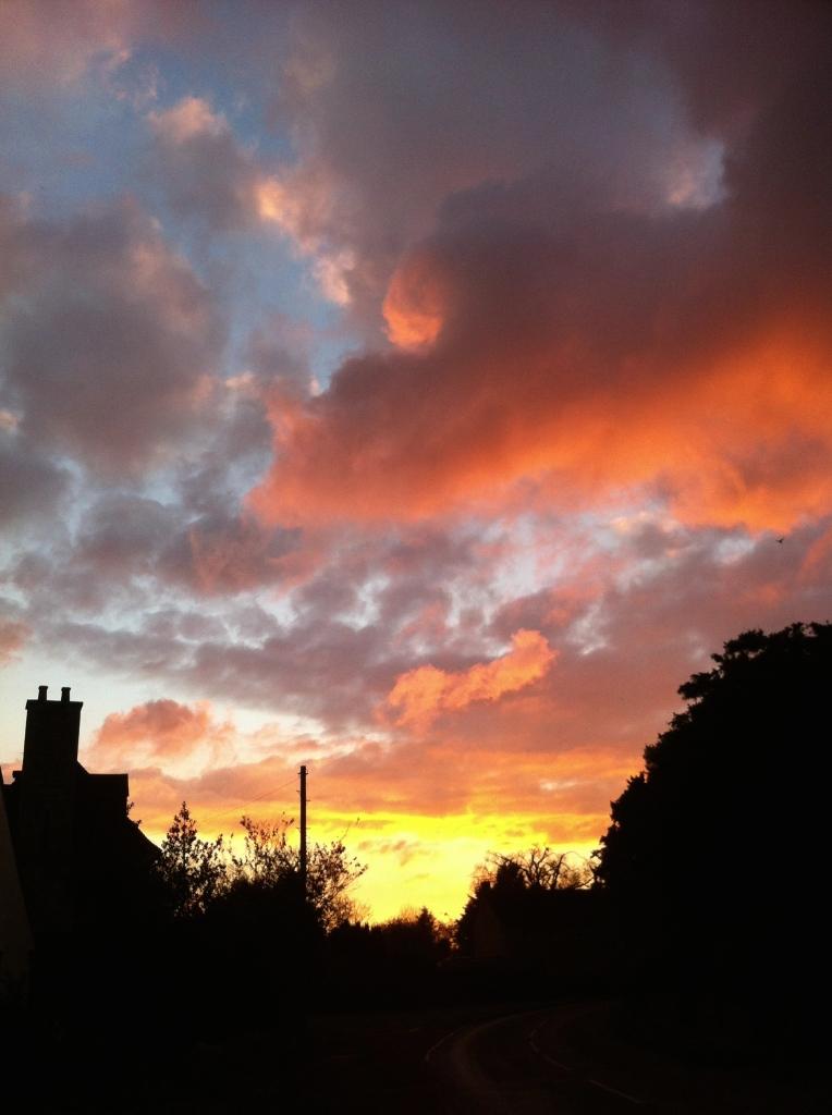 Sunset, autumn, Silent Sunday, My Sunday Photo