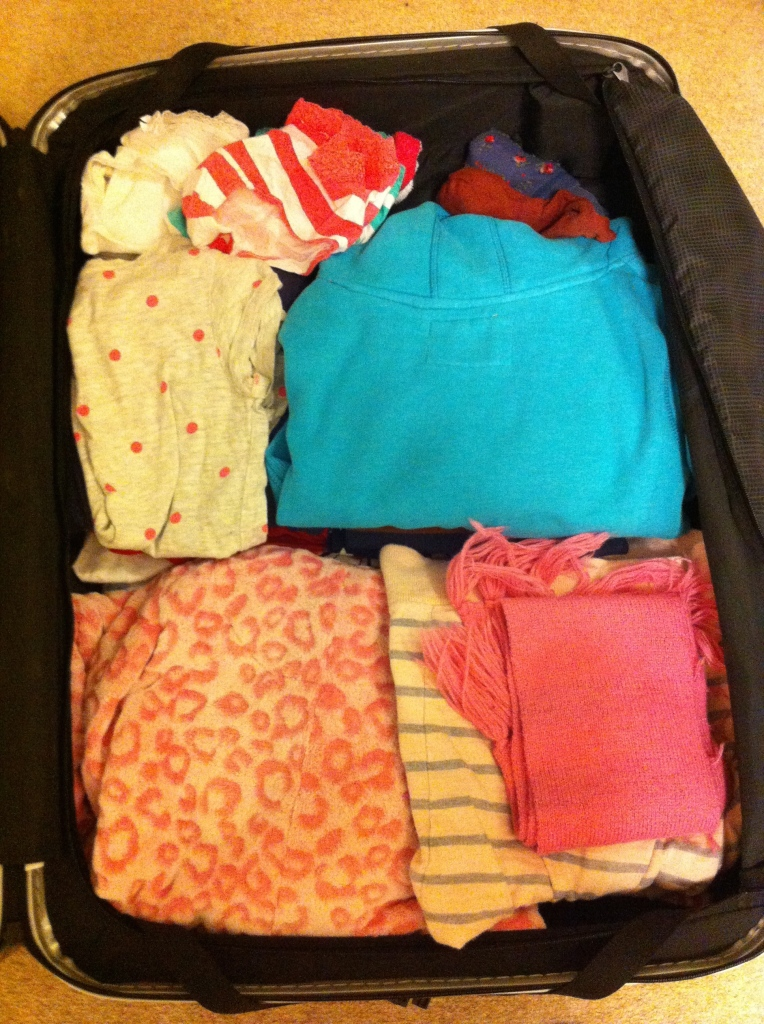 Packing, daughter, school trip, 365