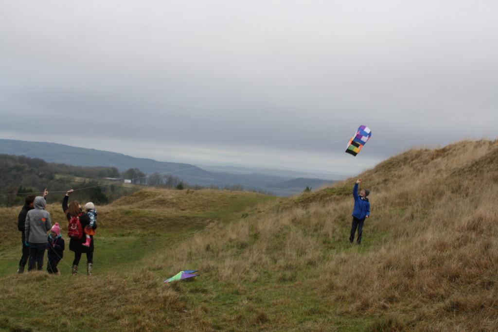 Kite, Hill, Family, 365