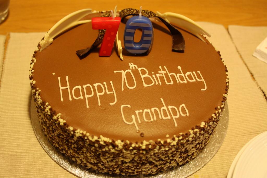Silent Sunday, My Sunday photo, birthday cake, 70th birthday