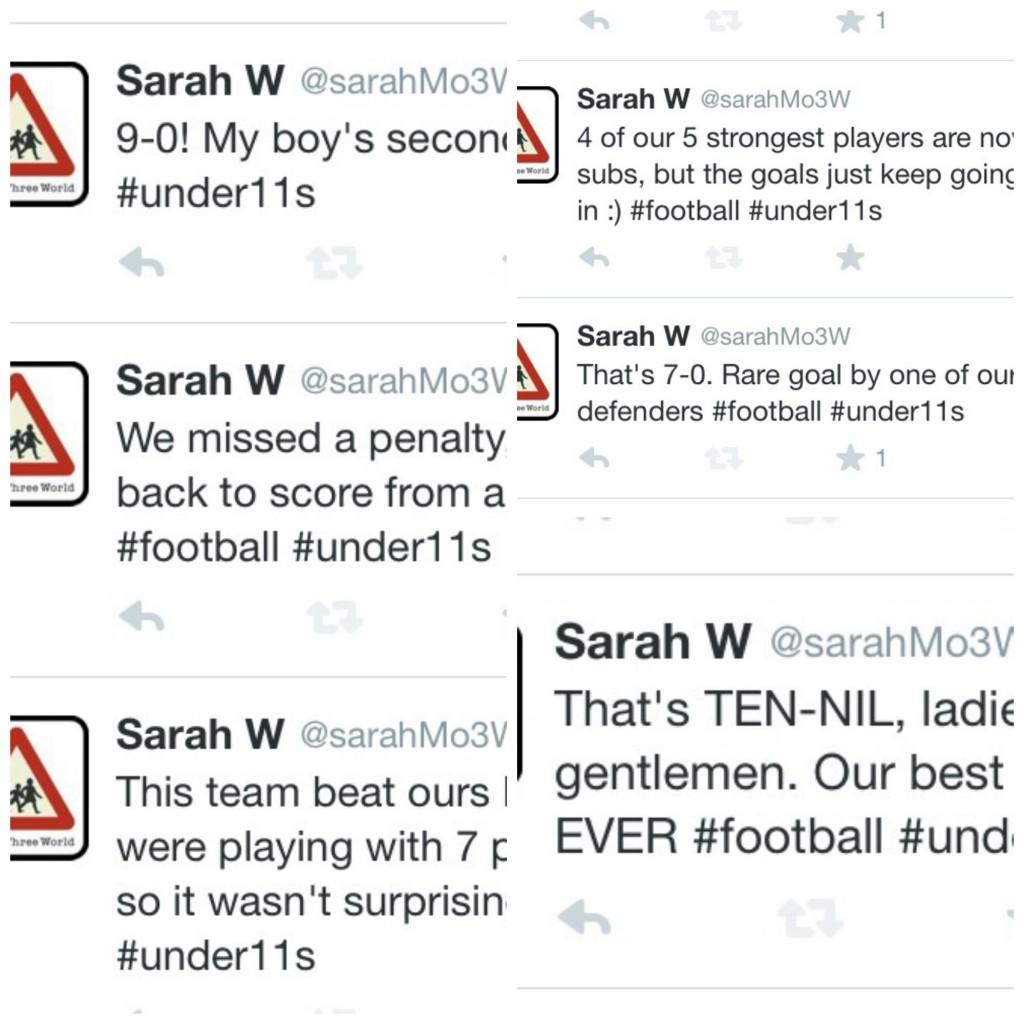 PicMonkey footballtweets2Collage, Football, Son, Loud 'n' Proud, Twitter, Tweet