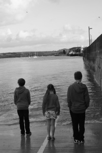 Padstow, Kids, Black and white, The Gallery