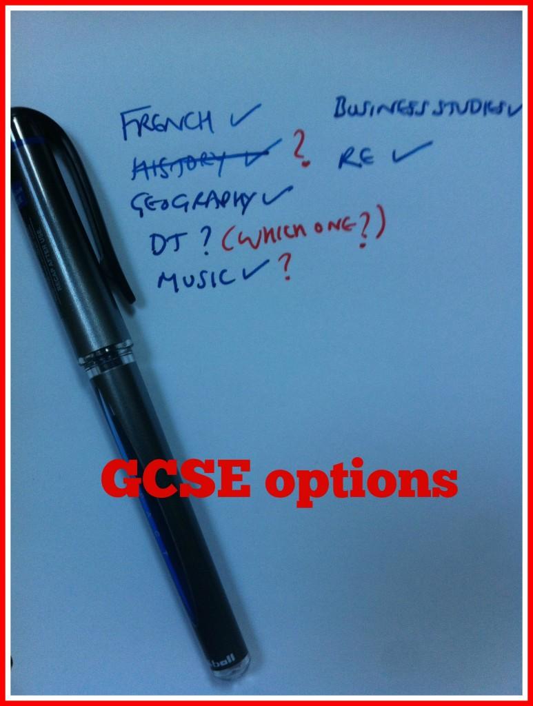 GCSEs, GCSE options, School, Education, Son
