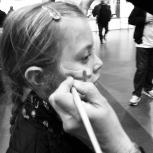 England, Wembley, Daughter, Face painting