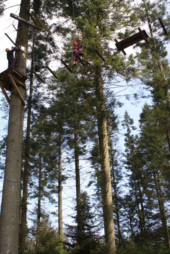 Aerial Adventure, Trees, Loud 'n' Proud, Daughter, Center Parcs