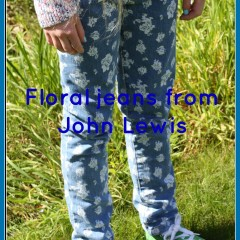 What she wore: Floral jeans