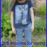 What she wore: Soft trousers for spring