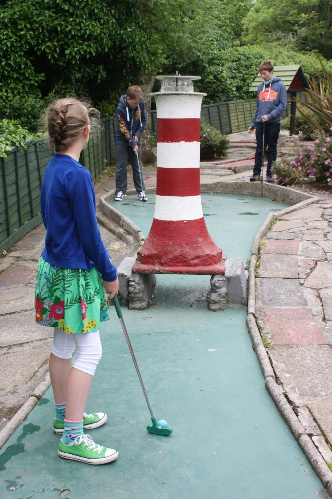 Crazy golf, Padstow, Kids, Cornwall