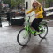 Cycling in Amsterdam with my daughter