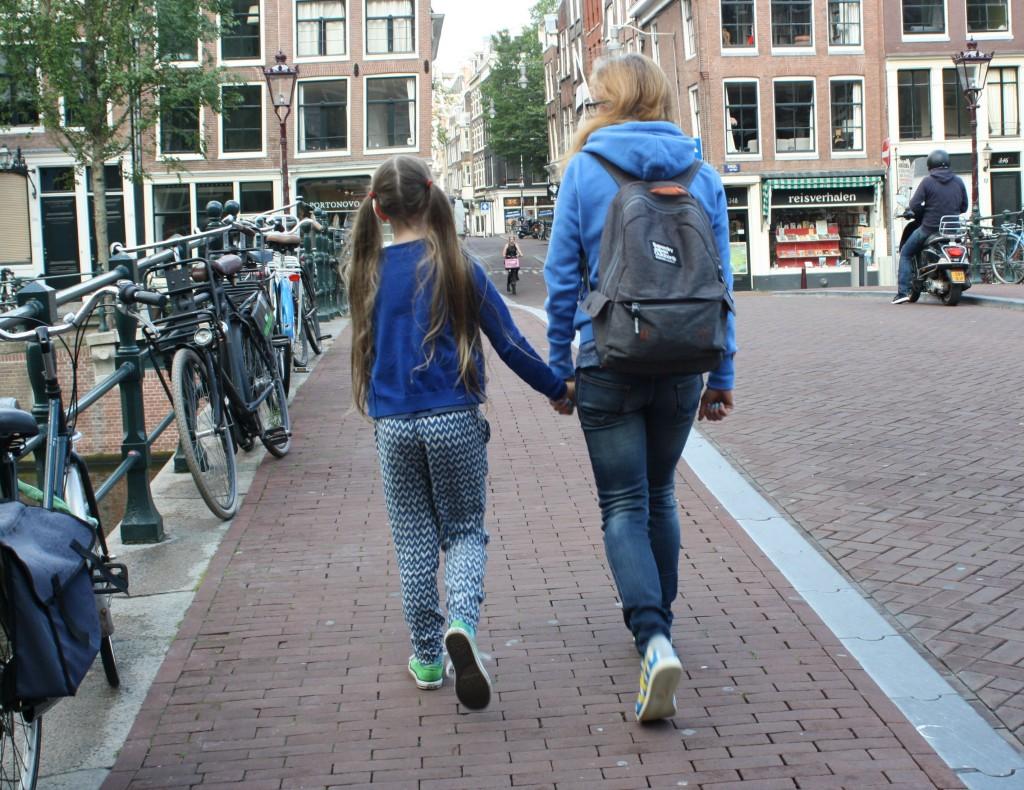 Daughter, Amsterdam, Bridge, Holiday