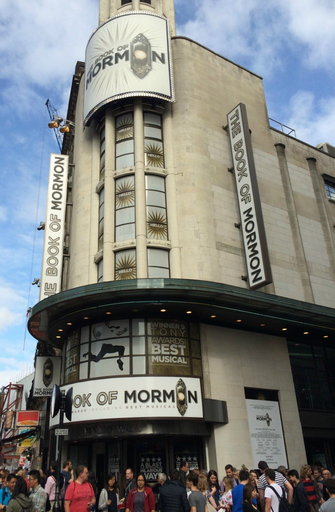 Book of Mormon, Theatre, Wedding anniversary, London, 365