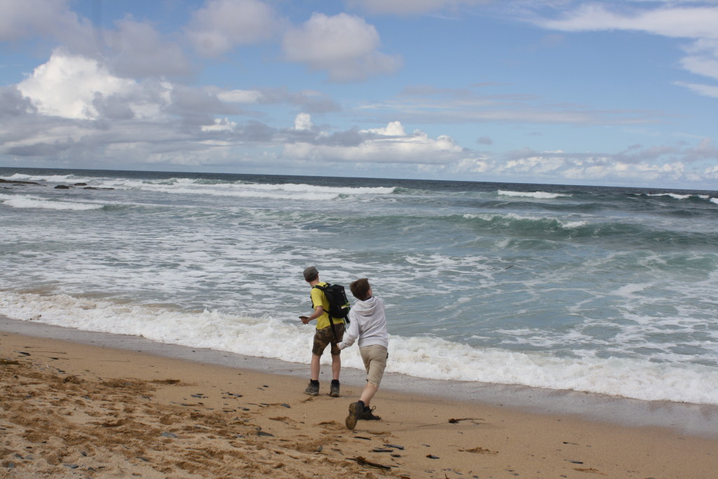 Boys, Sons, Constantine Bay, South West Coast Path, Cornwall