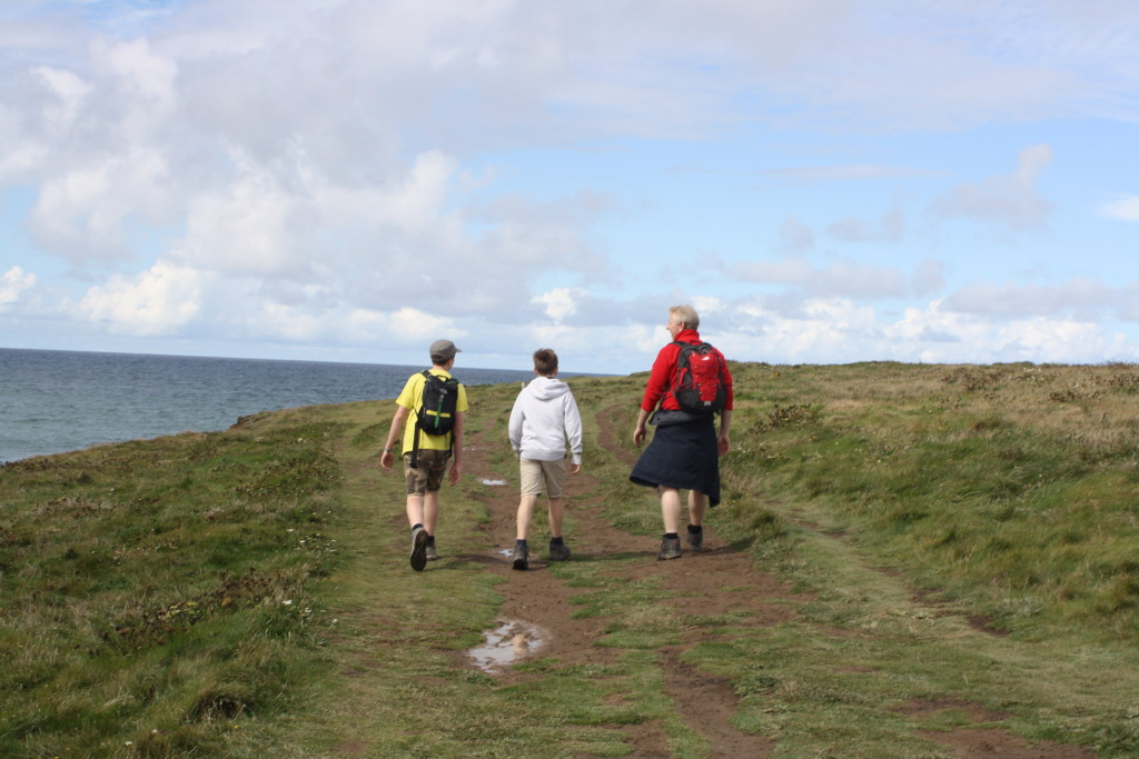 Hiking, Walking, Sons, Husband, South West Coast Path