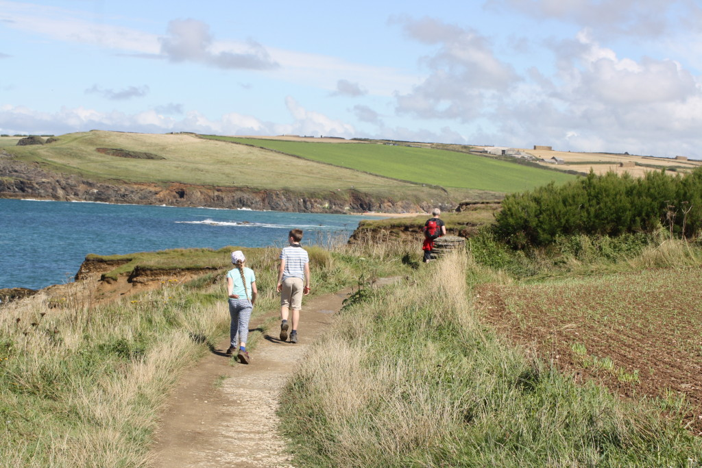 Walking, Hiking, Son, Daughter, Coast Path, South West Coast Path, Cornwall