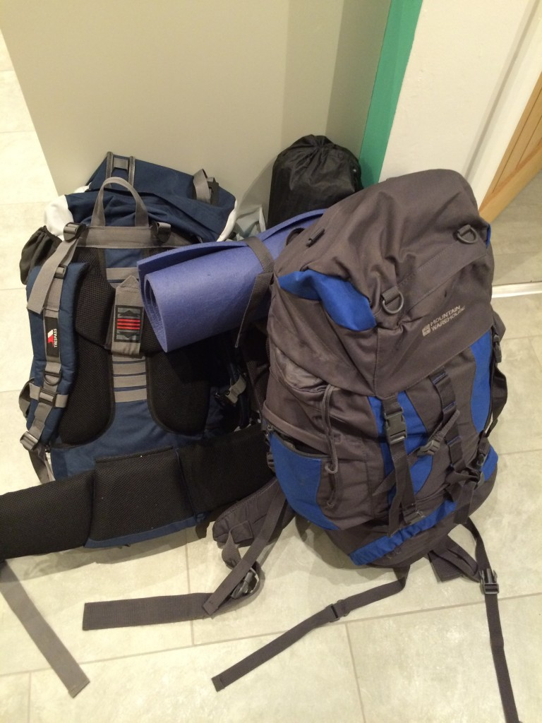 Rucksacks, Sons, Scout camp