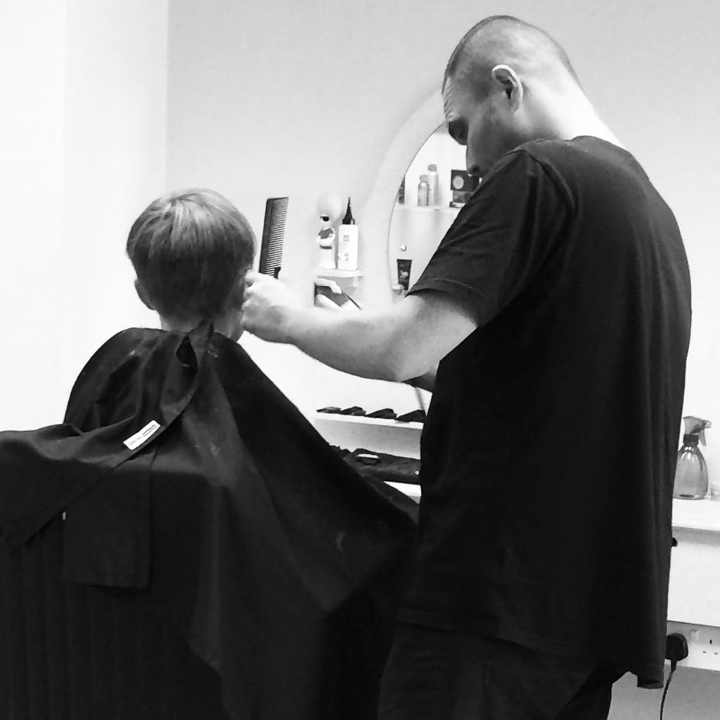Barber, Son, Haircut, 365